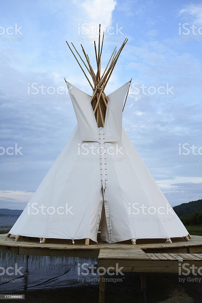 First nation tent - North America. royalty-free stock photo