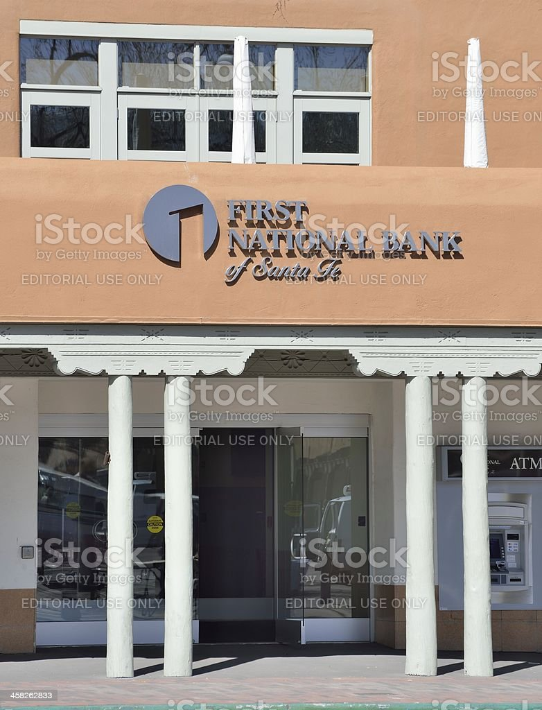 First National Bank Of Santa Fe Stock Photo - Download Image