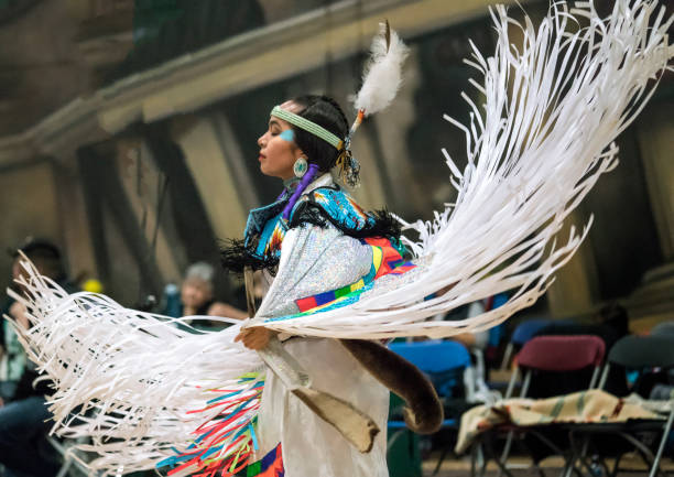 First Nations' Powwow, editorial image stock photo