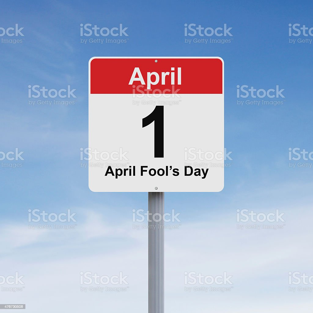 First of April stock photo