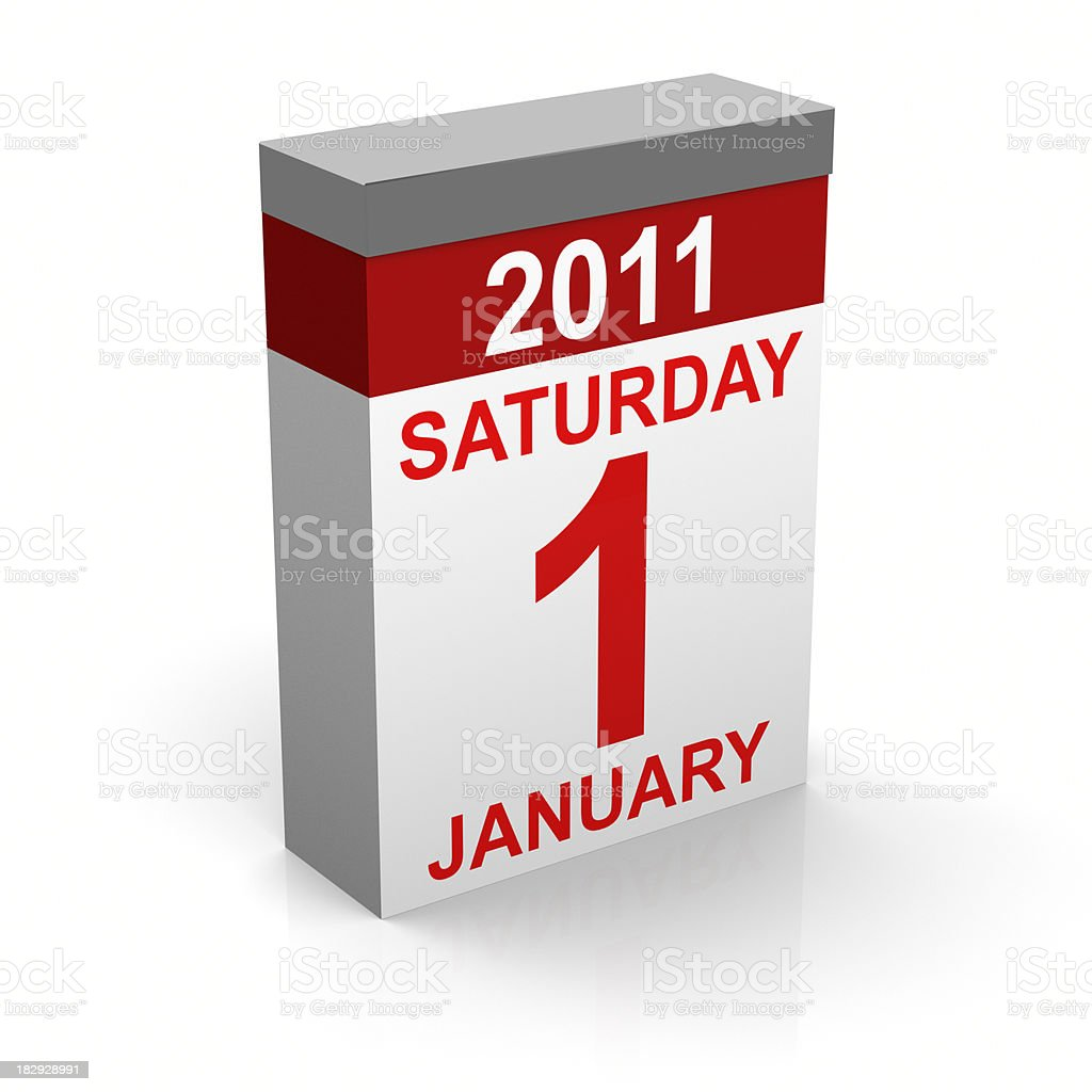 First Of January 2011 stock photo
