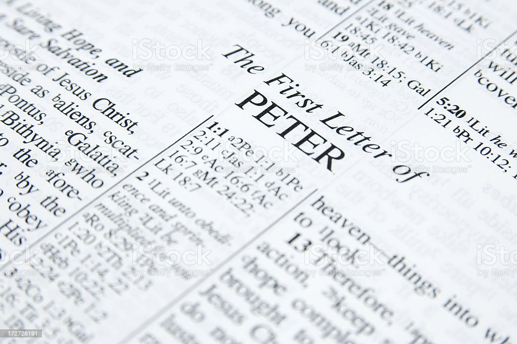 First Peter stock photo