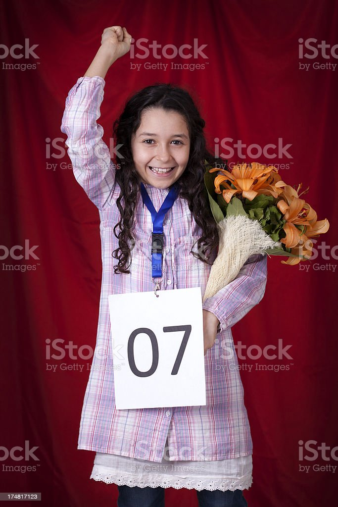 first place at audition royalty-free stock photo