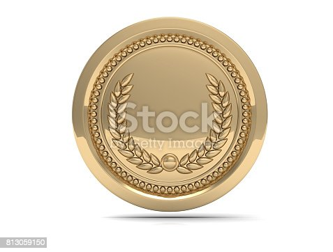 istock First place Gold medal  isolated on white background - 3d illustration 813059150
