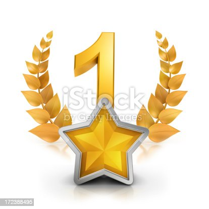 istock First place one star badge reward 172388495