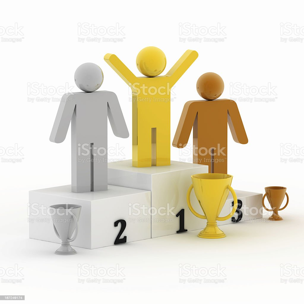 First place royalty-free stock photo