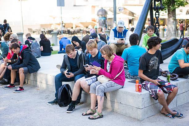 first pokemon gathering in ljubljana, slovenia - pflanzen pokemon stock-fotos und bilder