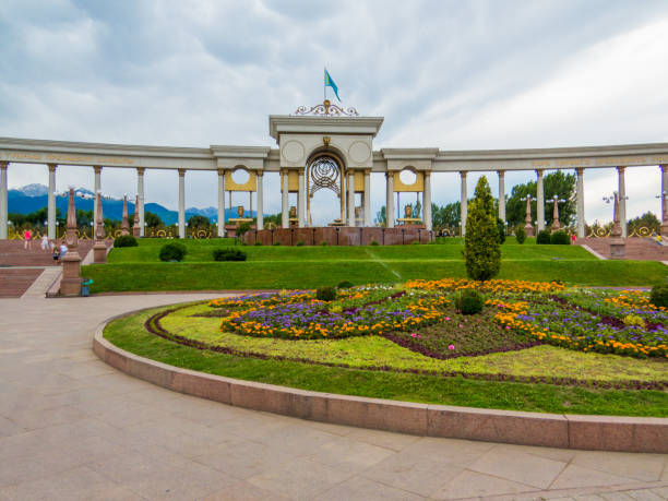 First President Park, Almaty, Kazakhstan stock photo