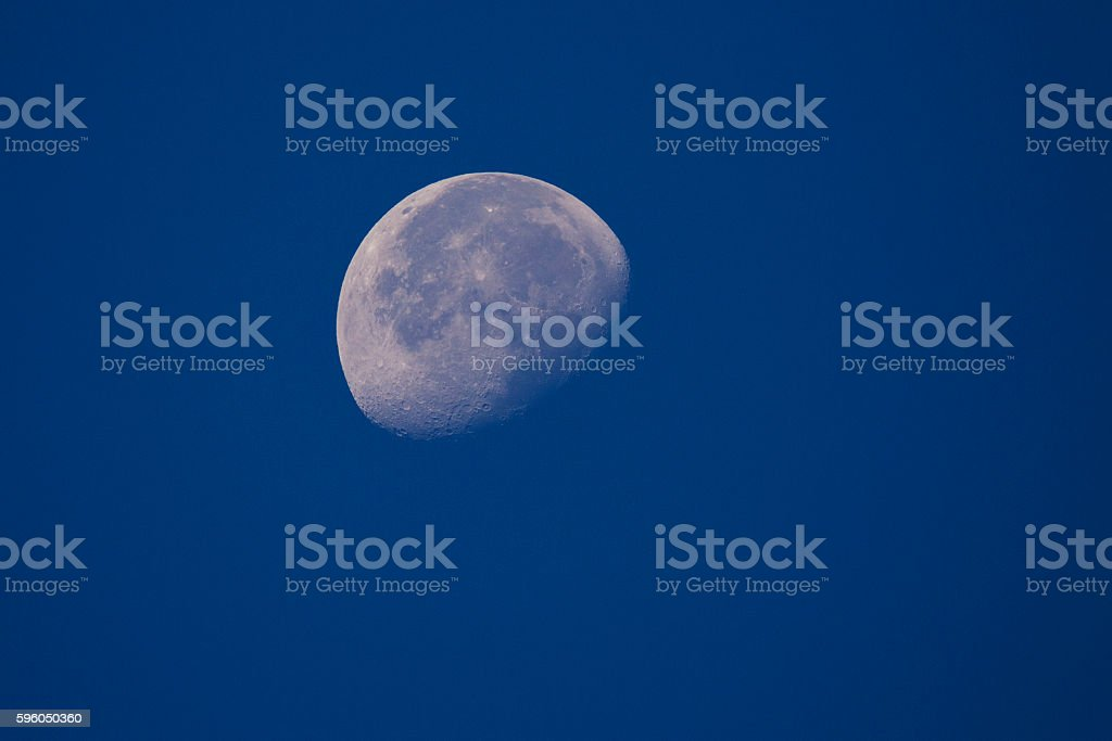 First quarter moon royalty-free stock photo