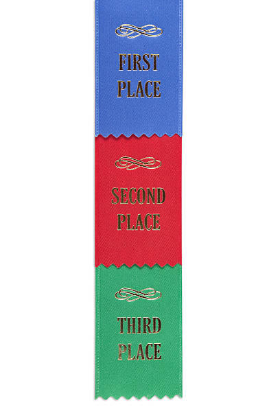 First, Second and Third Place stock photo