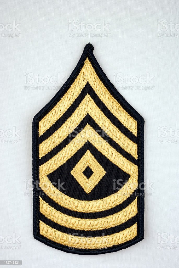 U.S. First Sergeant Rank Insignia royalty-free stock photo