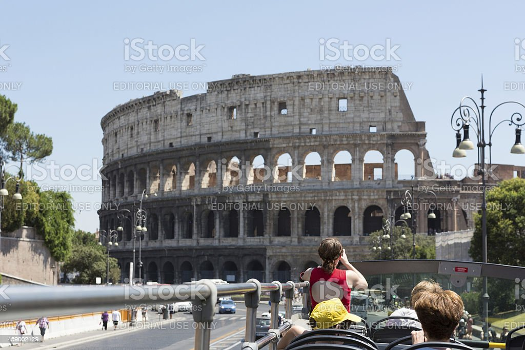 First Sight of the Colosseum royalty-free stock photo