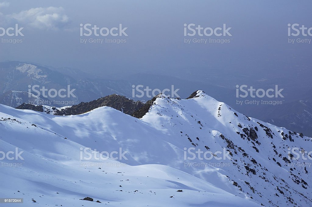 First snow in winter mountain royalty-free stock photo