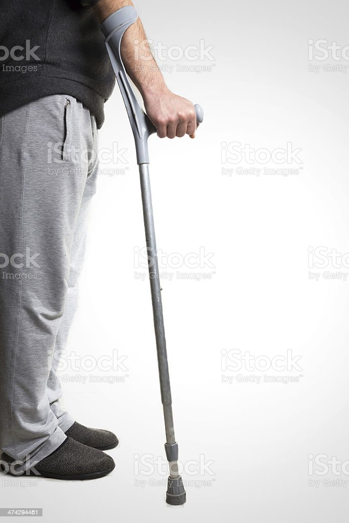 First step without wheelchair royalty-free stock photo