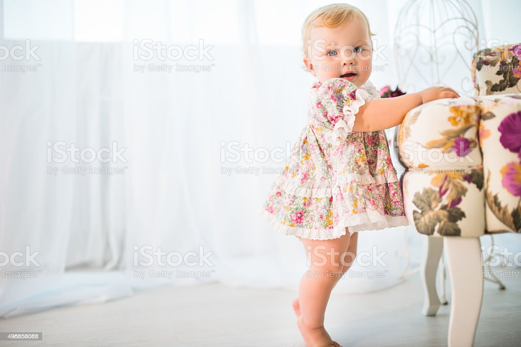 First steps stock photo