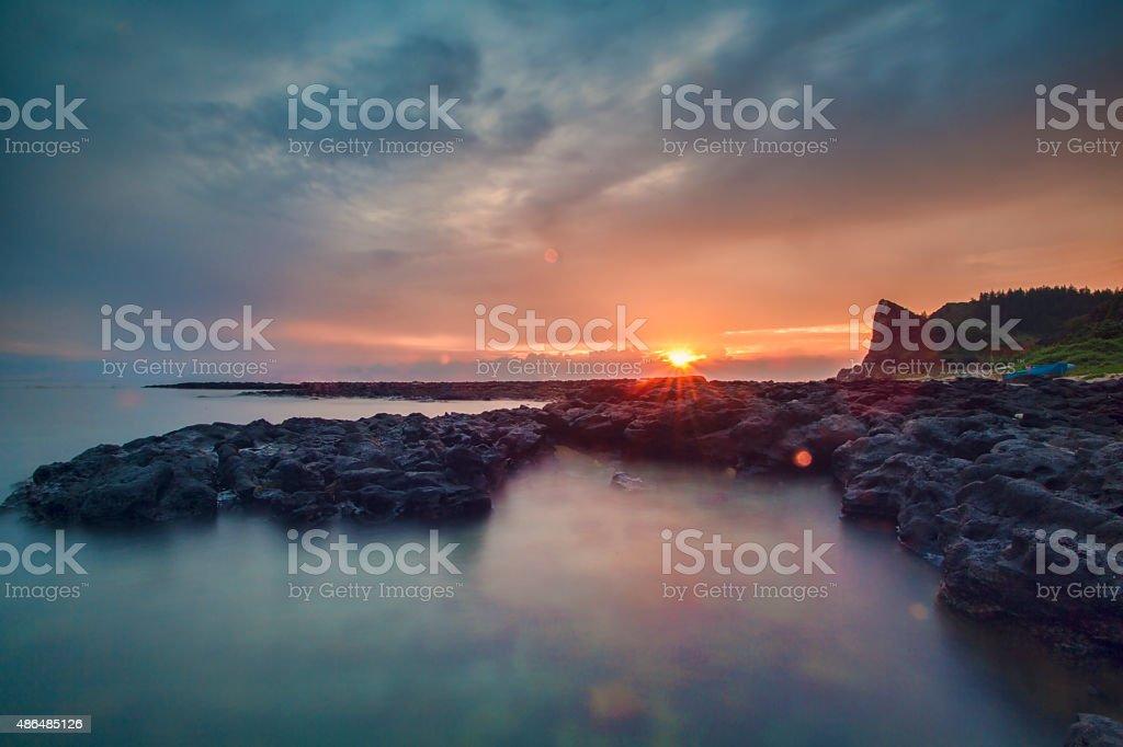 First Sun light stock photo