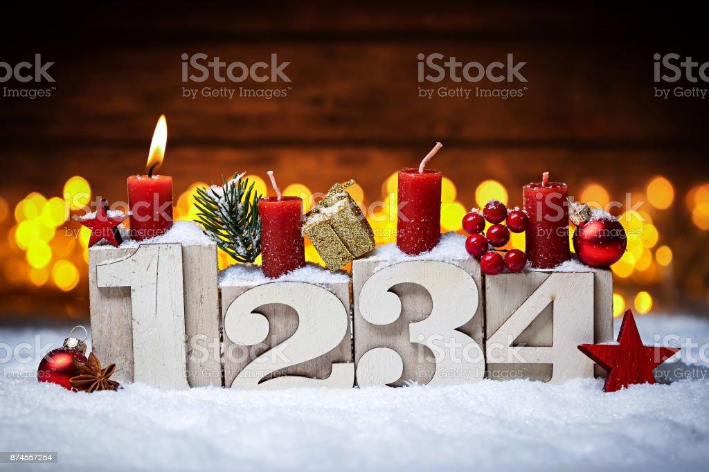 first sunday in advent concept stock photo