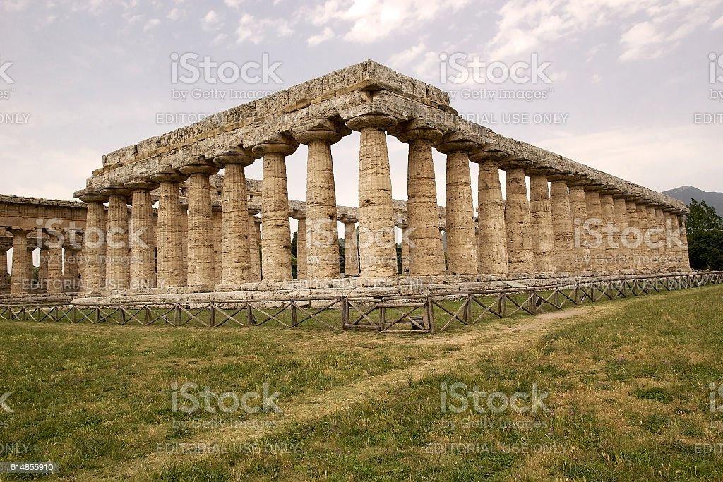First Temple of Hera, Paestum, Italy stock photo