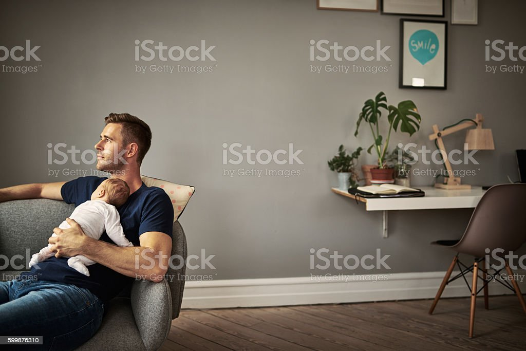 First time being a father. What should I expect? stock photo