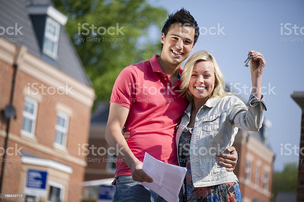 first time buyers stock photo