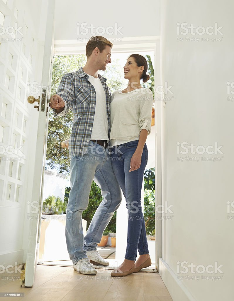 First time homeowners stock photo