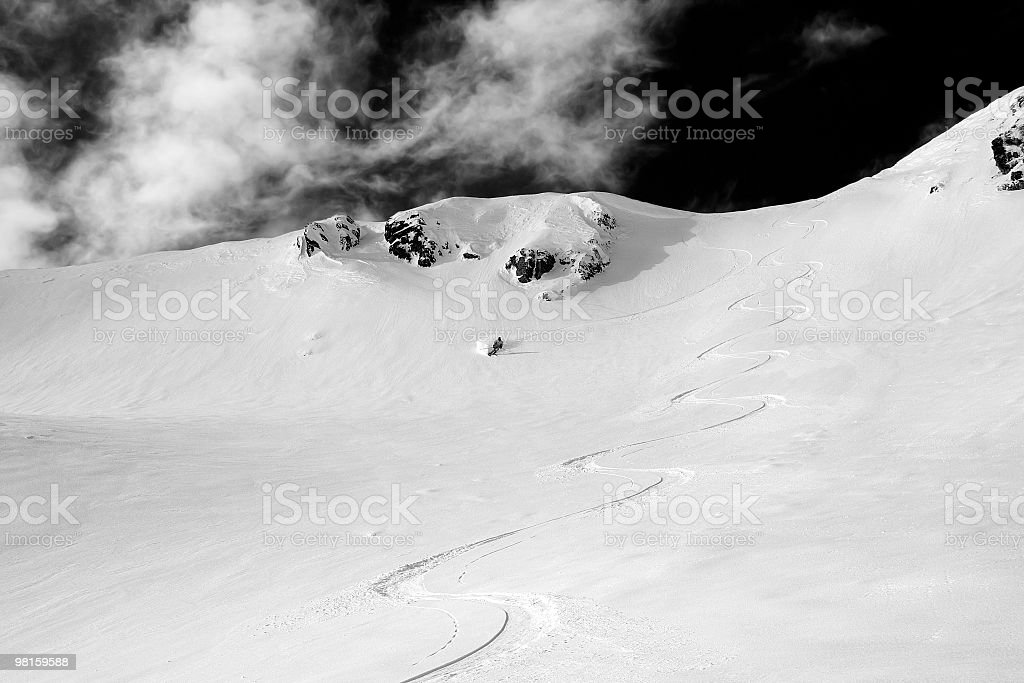 First Tracks royalty-free stock photo