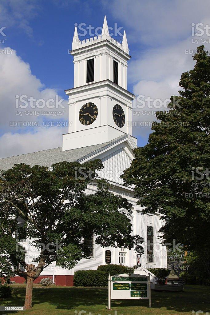 First United Methodist Church, Chatham, Cape Cod, Massachusetts, USA. stock photo