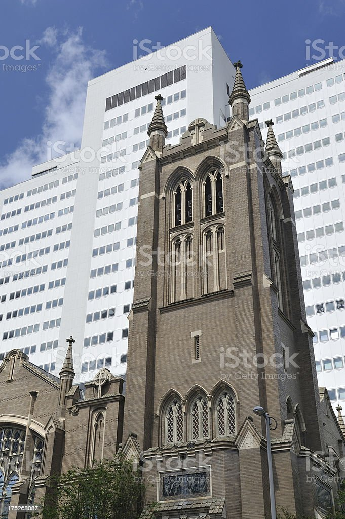 First United Methodist Church In Houston Stock Photo & More Pictures