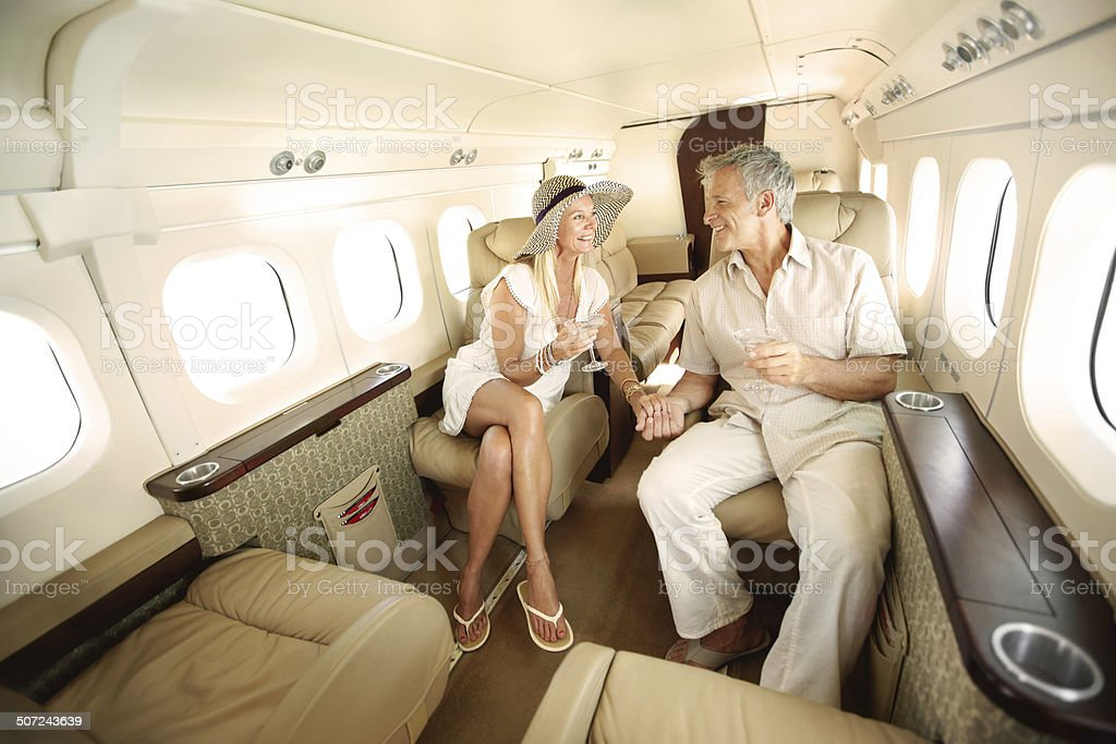 First-class all the way stock photo