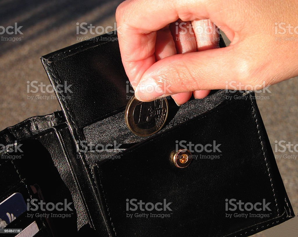 First/last coin royalty-free stock photo