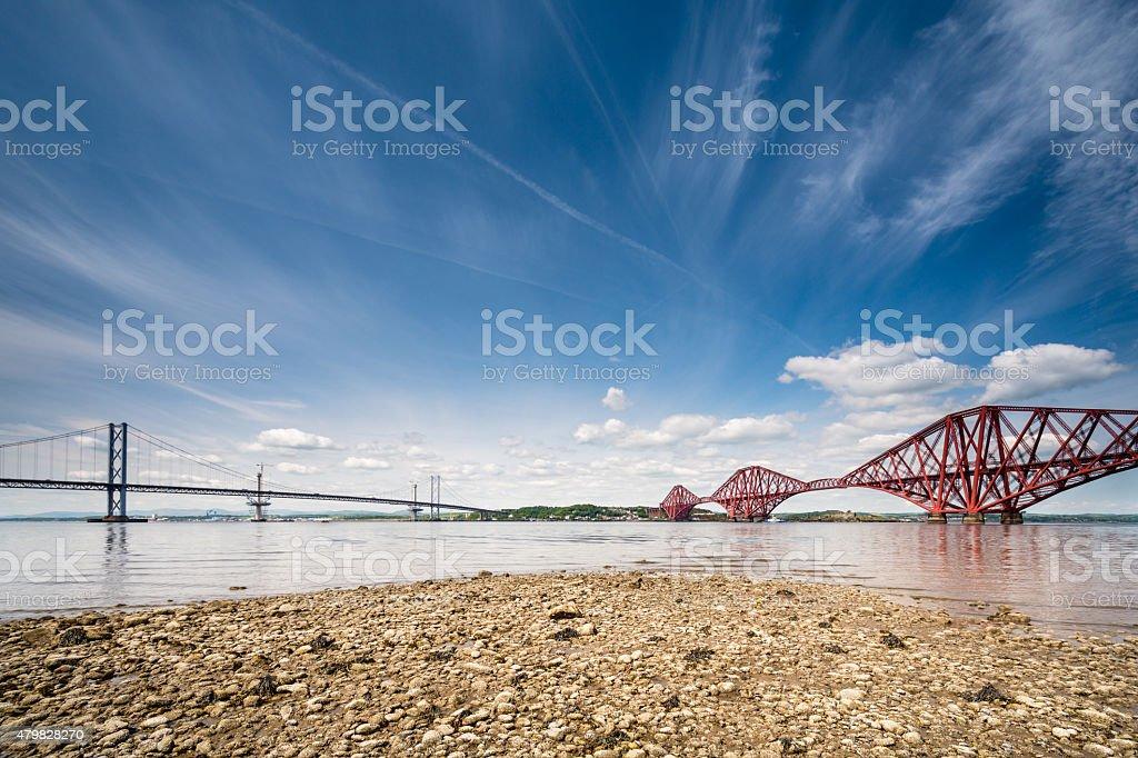 Firth of Forth Bridges stock photo