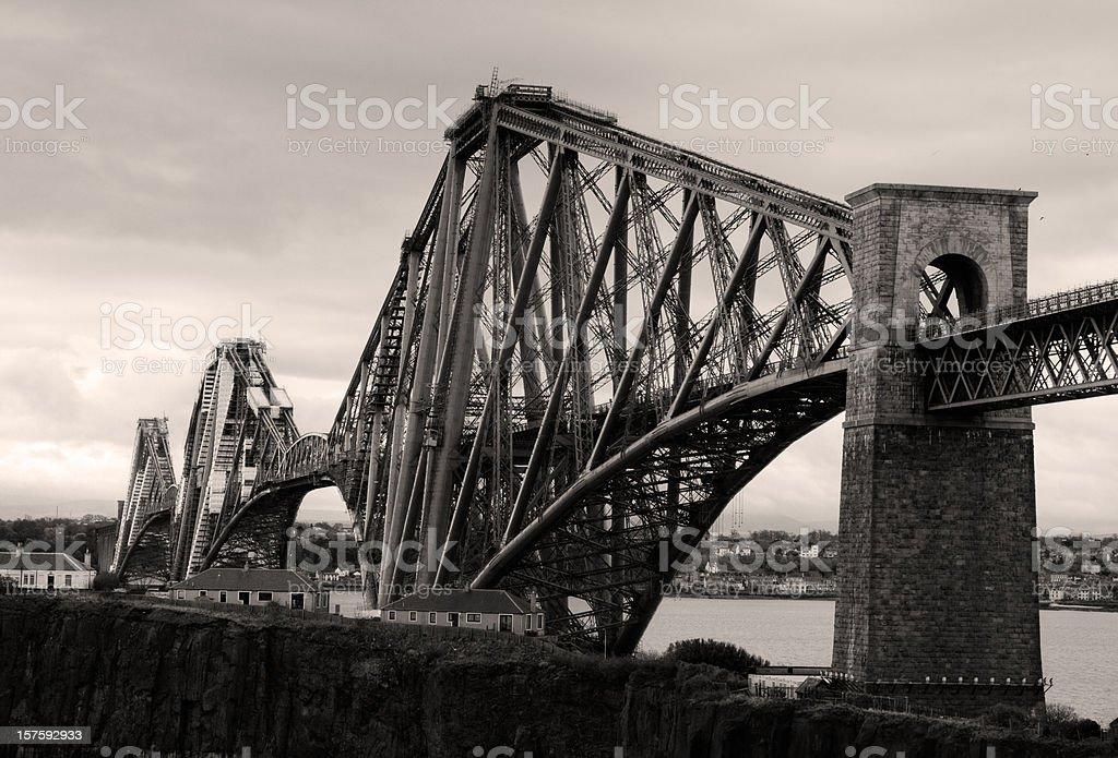 Firth of Forth Rail Bridge in Edinburgh Scotland royalty-free stock photo