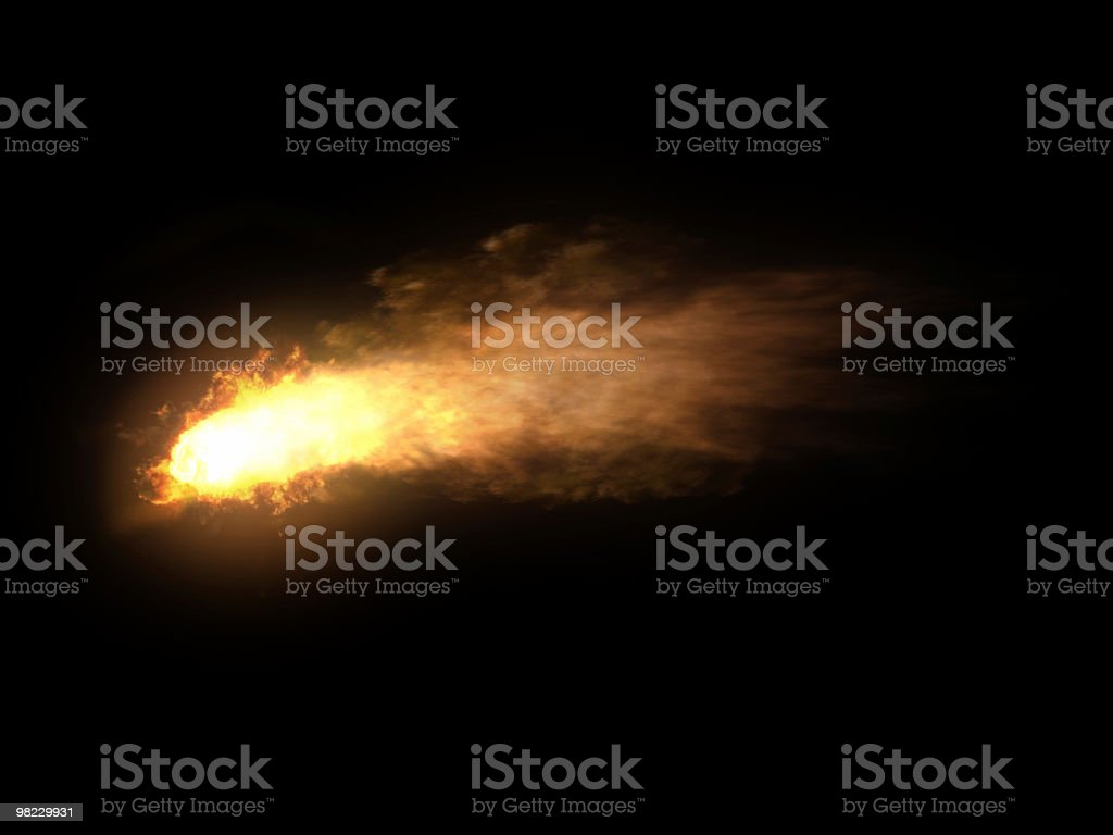 Firy Comet royalty-free stock photo