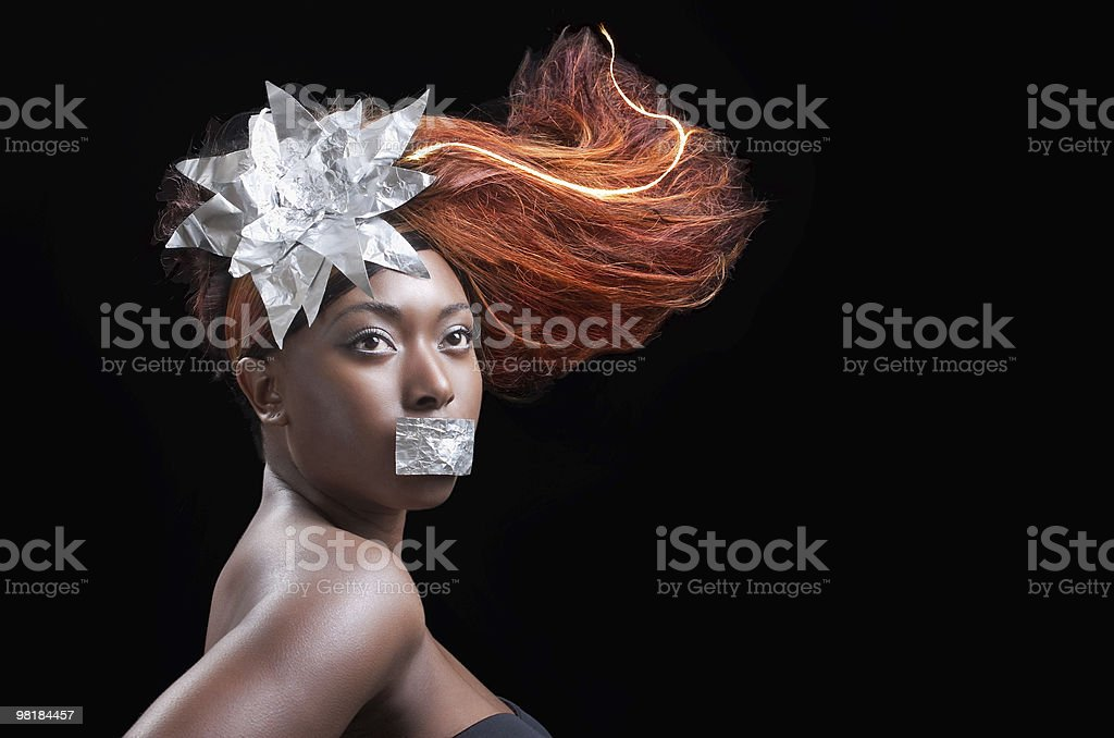 Firy hair royalty-free stock photo