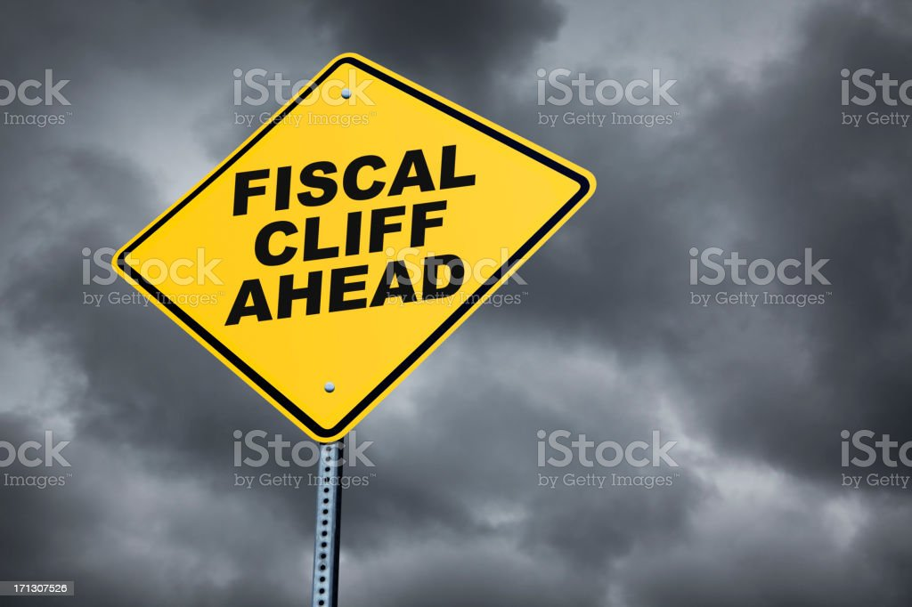 Fiscal Cliff Ahead royalty-free stock photo