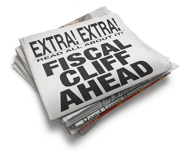 Fiscal Cliff Ahead A newspaper with the headline