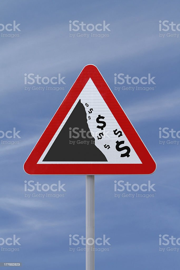"""""""Fiscal Cliff"""" Conceptual Warning Sign stock photo"""