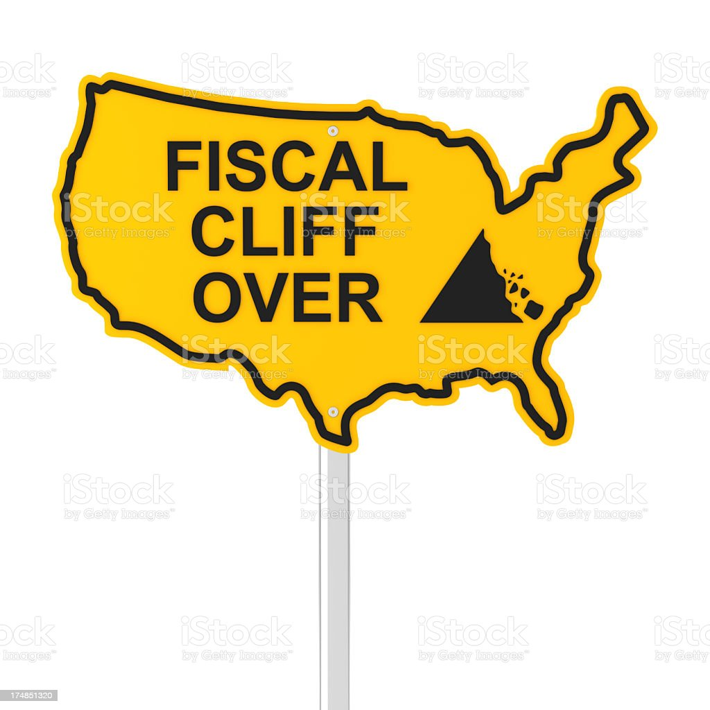 USA fiscal cliff over royalty-free stock photo