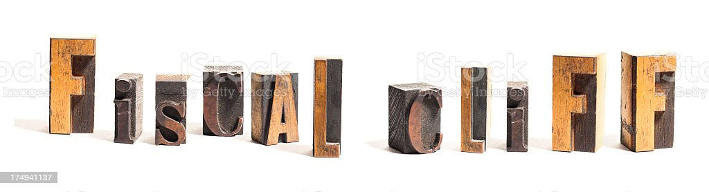 Fiscal Cliff royalty-free stock photo