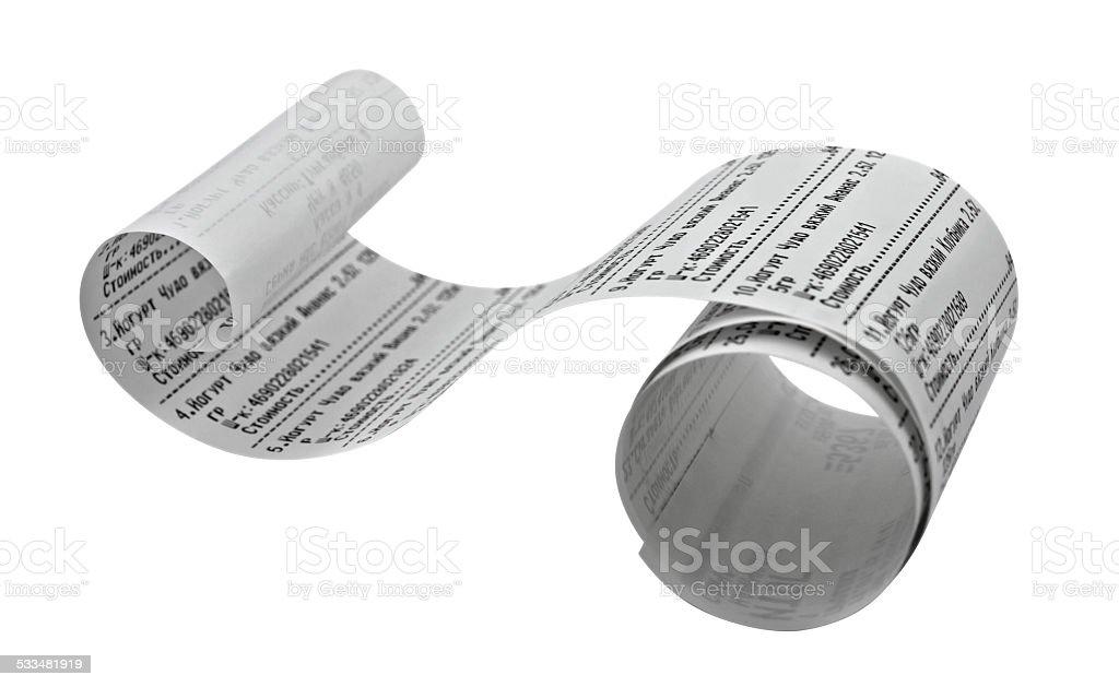 Fiscal receipt stock photo