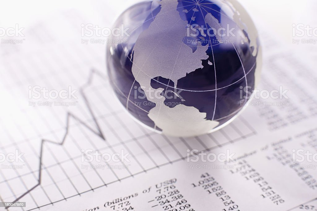 Fiscal Report and Globalization stock photo
