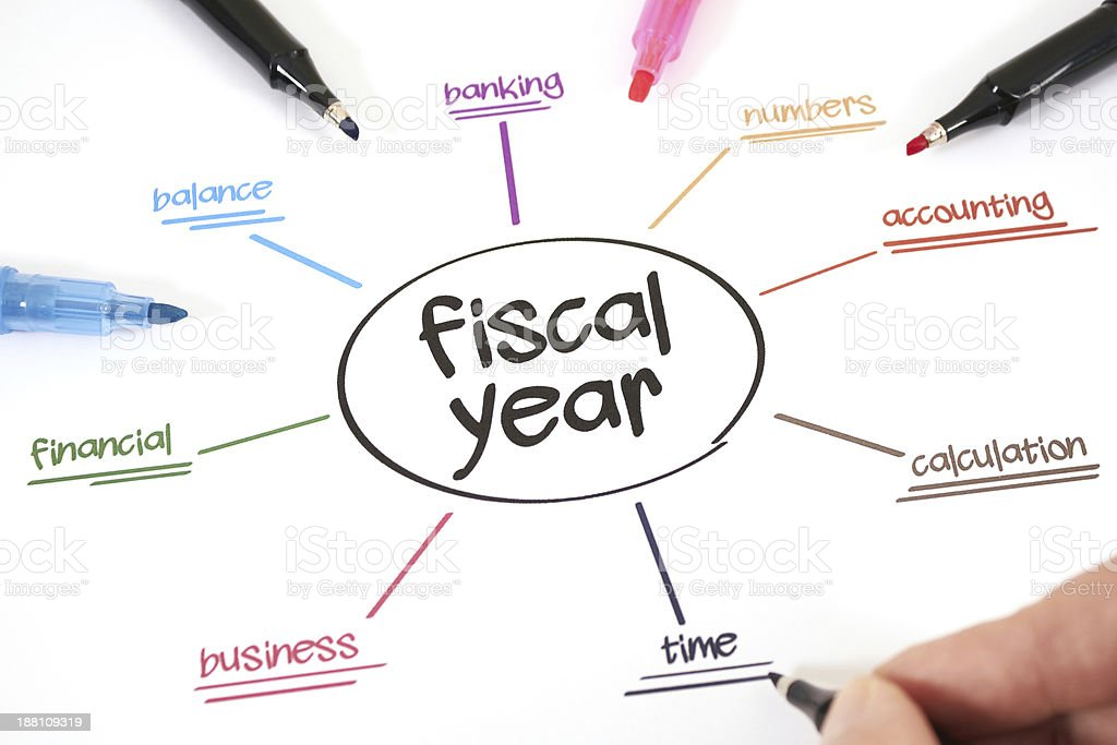 Fiscal year stock photo