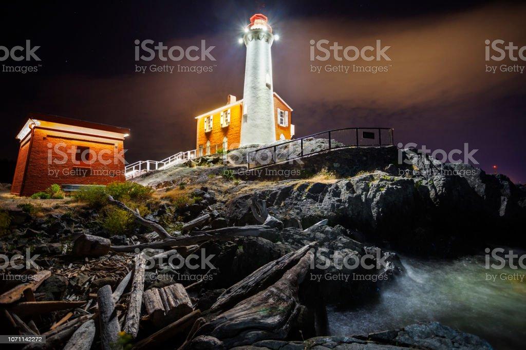 Fisgard lighthouse in Victoria BC stock photo
