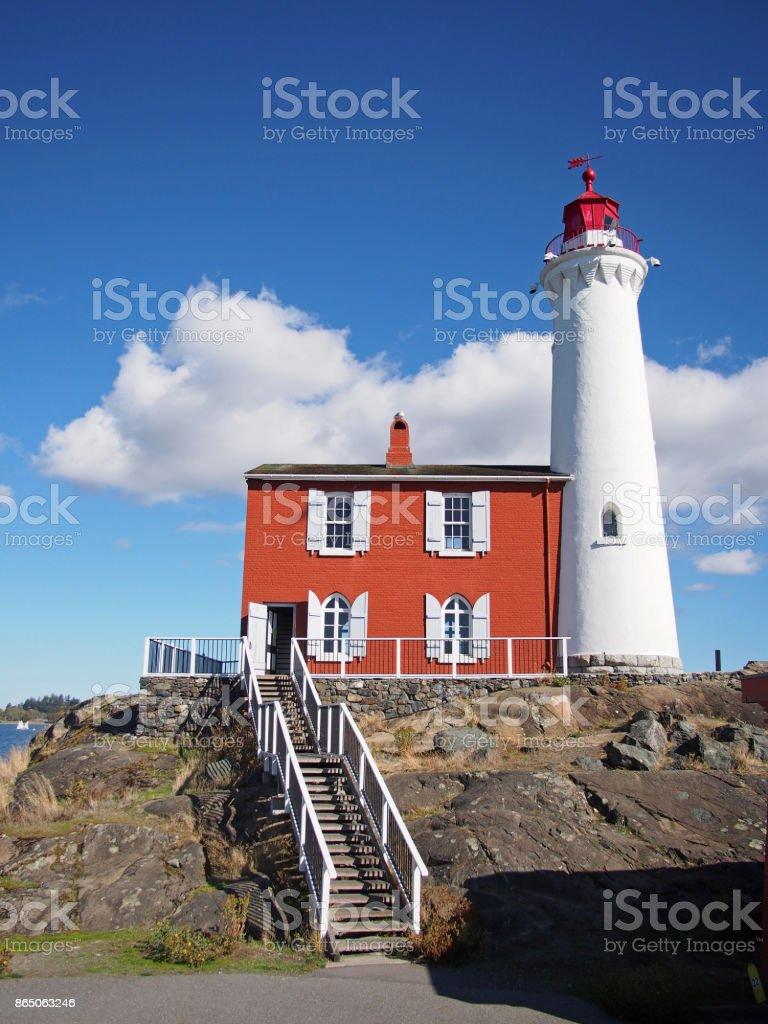 Fisgard Lighthouse near Victoria, British Columbia stock photo
