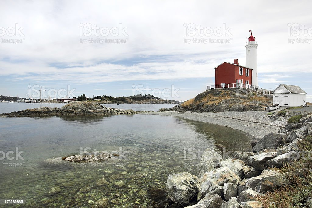 Fisgard Lighthouse stock photo