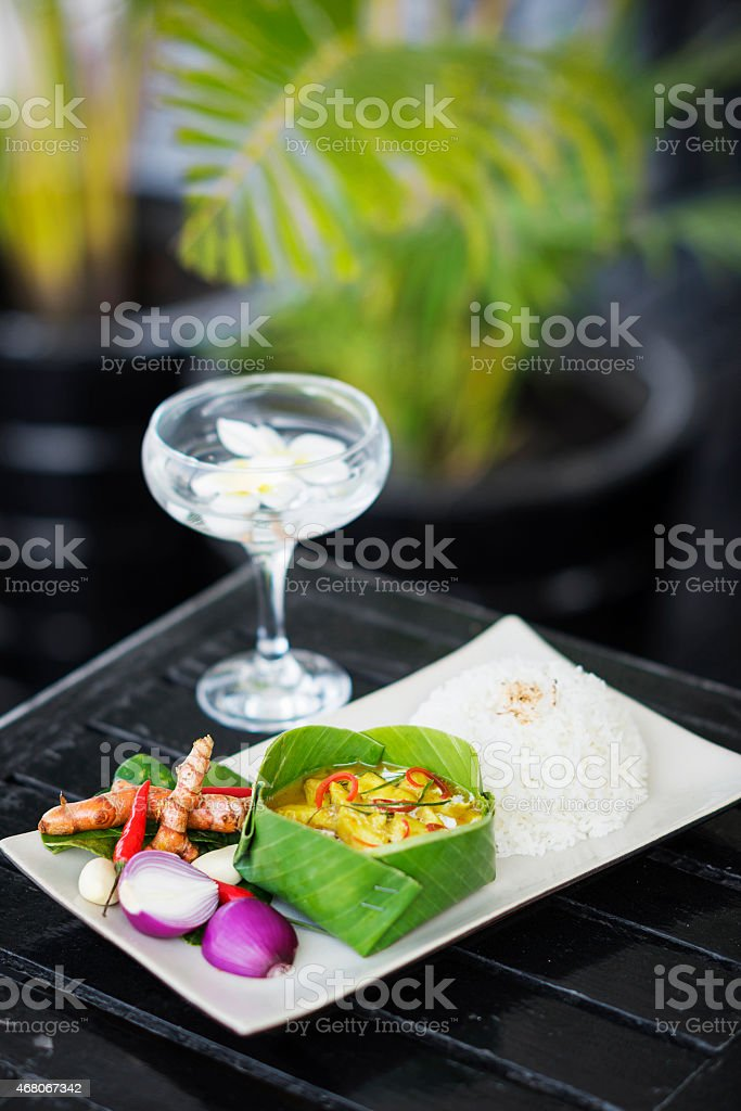 fish amok cambodian traditional curry stock photo