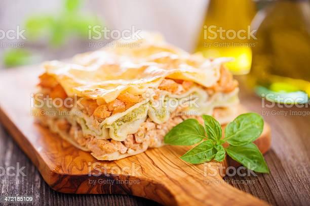 Fish And Broccoli Lasagna Stock Photo - Download Image Now
