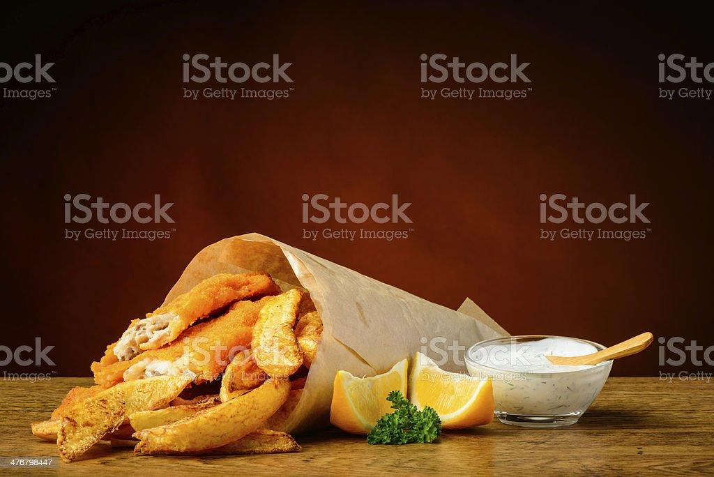 Fish-and-chips-Menü – Foto