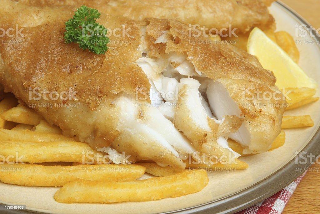 Peixe com Batata Frita - fotografia de stock