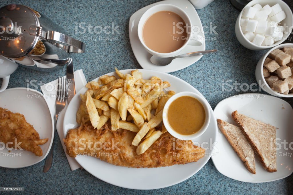 Fish and chips. stock photo